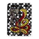 Encantador de serpiente (la serpiente y el robot) iman