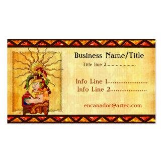 Encantador De Serpientes AZTEC TRADING POST TATTOO Business Card Templates