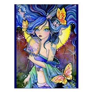 Encantadora de la mariposa - postal