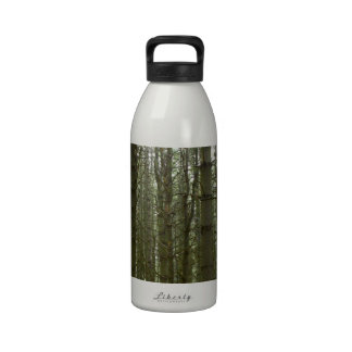 Encantamiento del bosque del pino botellas de beber