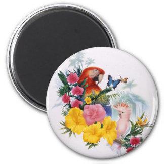 Encantamiento tropical imán redondo 5 cm