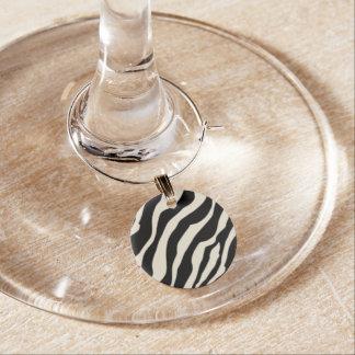 Encanto adaptable del vino del estampado de zebra identificador de copa