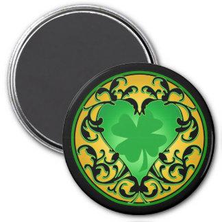 Encanto afortunado del corazón de St Patrick Imán Para Frigorífico
