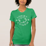 Encanto afortunado del vintage camisetas