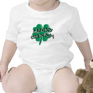 Encanto afortunado - trébol de cuatro hojas trajes de bebé