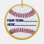 Encanto americano y recuerdo del béisbol del adornos de navidad