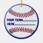Encanto americano y recuerdo del softball adorno para reyes