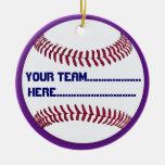 Encanto americano y recuerdo del softball ornamentos de navidad