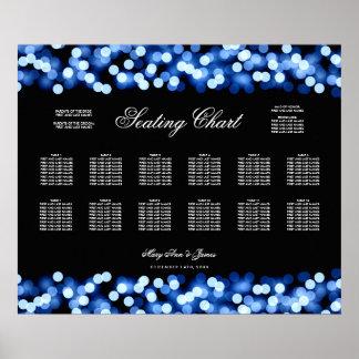 Encanto azul de Hollywood de la carta del asiento Póster