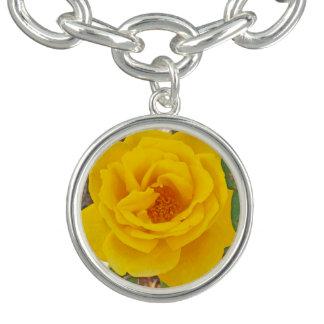Encanto brillante y pulsera del rosa amarillo