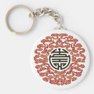 Encanto chino afortunado llavero