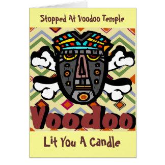 Encanto cómico del vudú tarjeta de felicitación