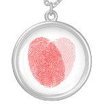 Encanto cuadrado del recuerdo de la huella dactila joyerias personalizadas