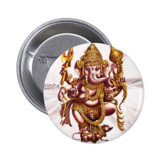 Encanto de buena suerte de señor Ganesh Pin Redondo 5 Cm