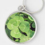 Encanto de buena suerte del trébol de 4 hojas llaveros personalizados
