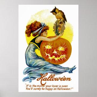 Encanto de Halloween del vintage Posters