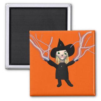 Encanto de la bruja de Halloween Imán Cuadrado
