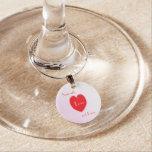 Encanto de la copa de vino del amor y de los besos identificadores de copas