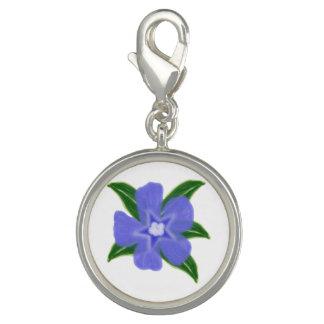 Encanto de la flor del bígaro dijes con foto