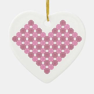 Encanto de la tarjeta del día de San Valentín Adorno Navideño De Cerámica En Forma De Corazón