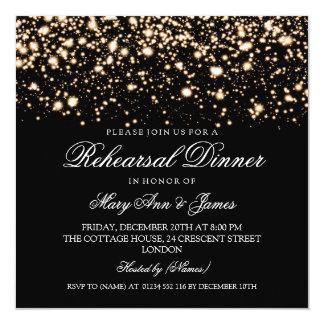 """Encanto de medianoche del ensayo del oro elegante invitación 5.25"""" x 5.25"""""""
