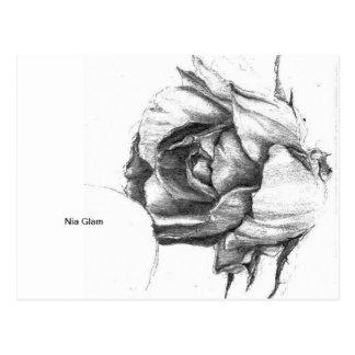 Encanto de Nia - corazón del color de rosa Postal