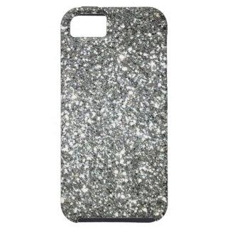 Encanto de plata del brillo iPhone 5 carcasa