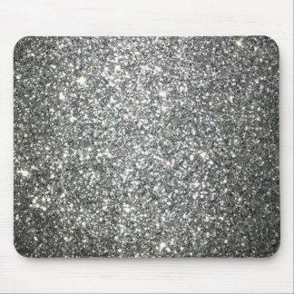 Encanto de plata del brillo alfombrilla de ratón