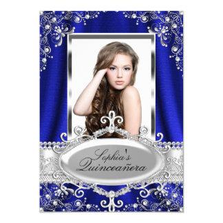 """Encanto de seda Quinceanera del vintage de la Invitación 5"""" X 7"""""""