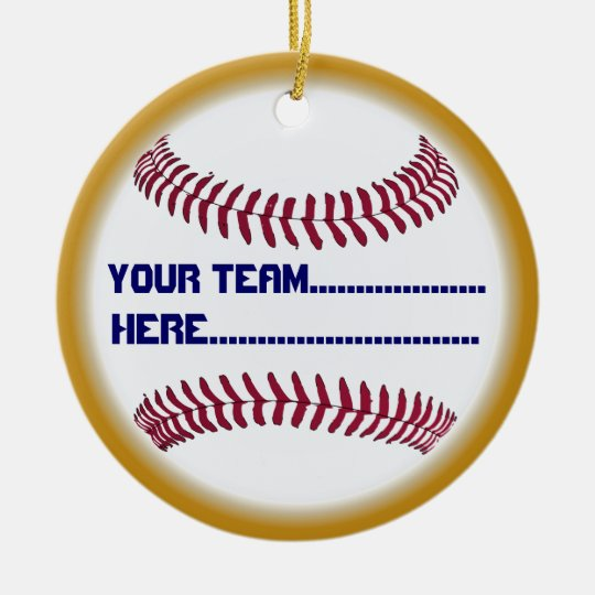 Encanto del béisbol y alcohol del americano del adorno navideño redondo de cerámica