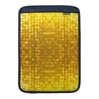 Encanto del brillo del oro funda para macbook air