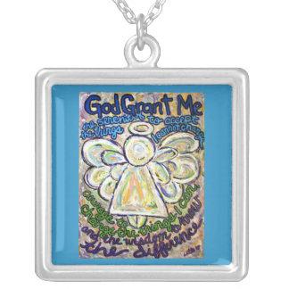 Encanto del collar de la plata del arte del ángel