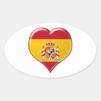 Encanto del Corazón de España Oval Sticker