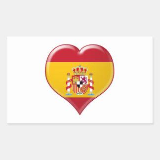 Encanto del Corazón de España Rectangular Sticker