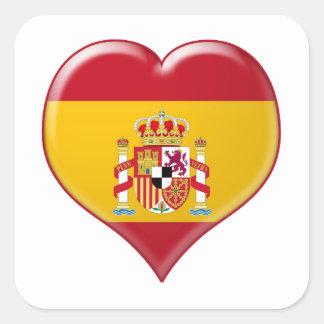 Encanto del Corazón de España Square Sticker
