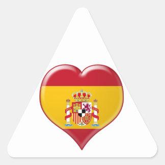 Encanto del Corazón de España Triangle Sticker