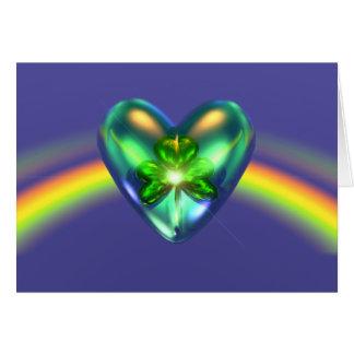 Encanto del corazón del día de St Patrick Felicitaciones