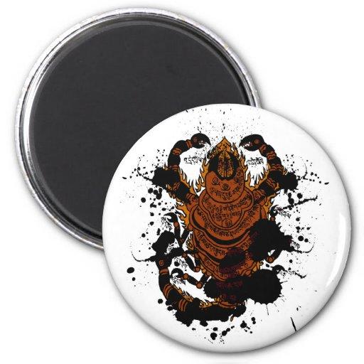Encanto del escorpión imán redondo 5 cm