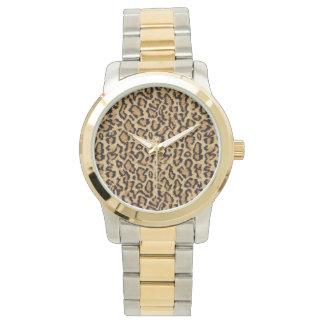 Encanto del estampado de animales del leopardo de relojes de pulsera
