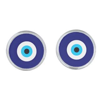 Encanto del mal de ojo gemelos plateados
