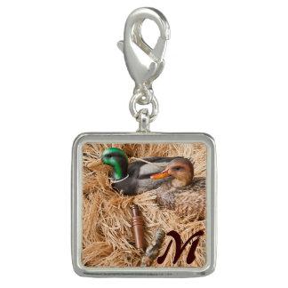 Encanto del monograma de la caza de Drake del pato Dijes