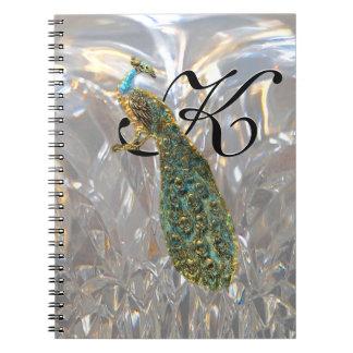 Encanto del pavo real cuadernos