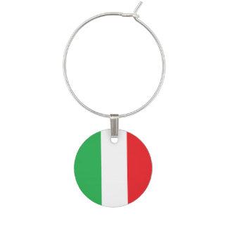 """Encanto del vino de la """"bandera italiana"""" identificador de copa"""