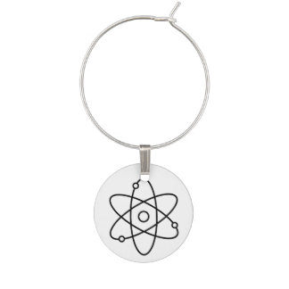Encanto del vino de la ciencia del átomo identificadores de copas