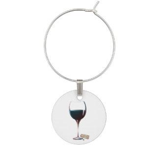 Encanto del vino del arte del vino rojo identificador de copa