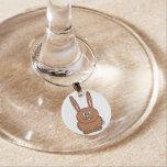 Encanto del vino del conejo identificadores de copas