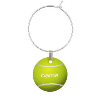Encanto del vino del diseño de la pelota de tenis identificadores de copas