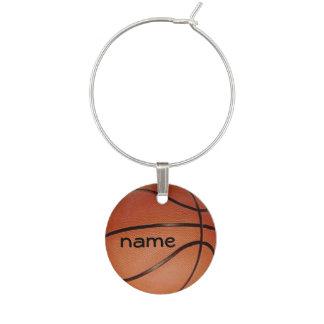 Encanto del vino del diseño del baloncesto identificador de copa