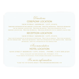 Encanto del vintage del oro de las tarjetas de invitación 10,8 x 13,9 cm