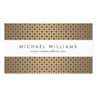 Encanto del vintage en oro y diseñador gris tarjeta de negocio